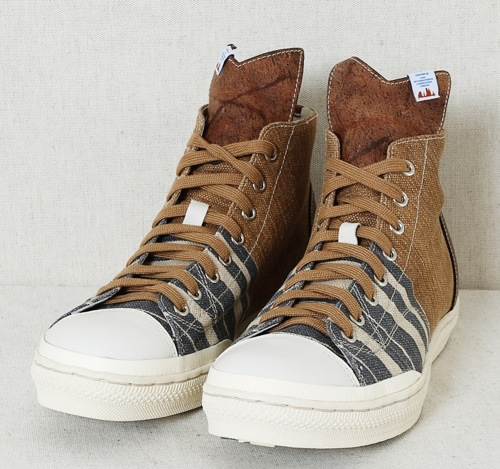 visvim Lauda Stripe-Folk High Top Sneaker