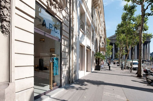 Now Open | A.P.C. Store on rue Royale, St. Honoré, Paris