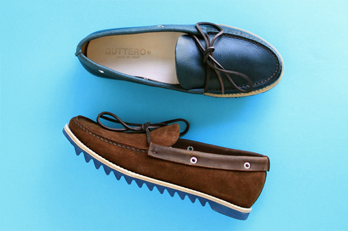 Buttero Colored Ripple Sole Boat Shoes for S/S 2012