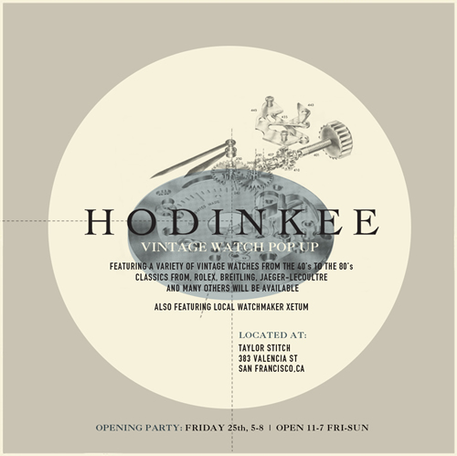 HODINKEE Pop-Up Store in San Francisco at Taylor Stitch