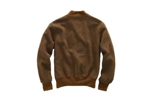 RRL Varsity Jacket in Herbal Green Wool