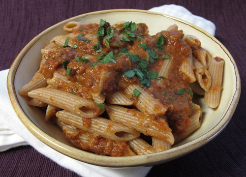 Eggplant Romesco Rigatoni Recipes — Dishmaps
