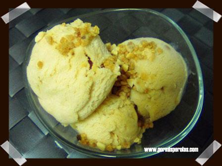 Helado de turrón (sin heladera)