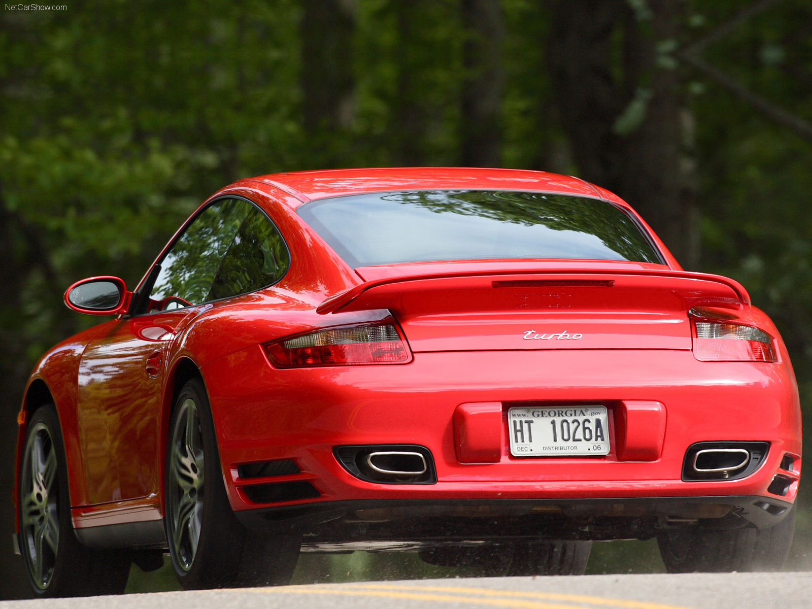 3 Girls Wallpaper 2007 Red Porsche 911 Turbo Wallpapers