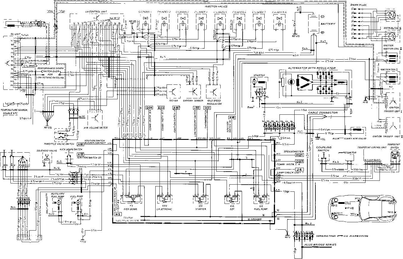 porsche 911 964 wiring diagram