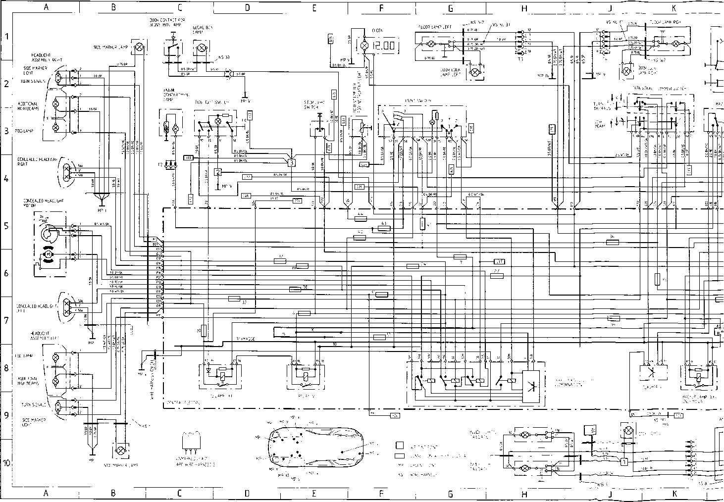 porsche wiring schematics