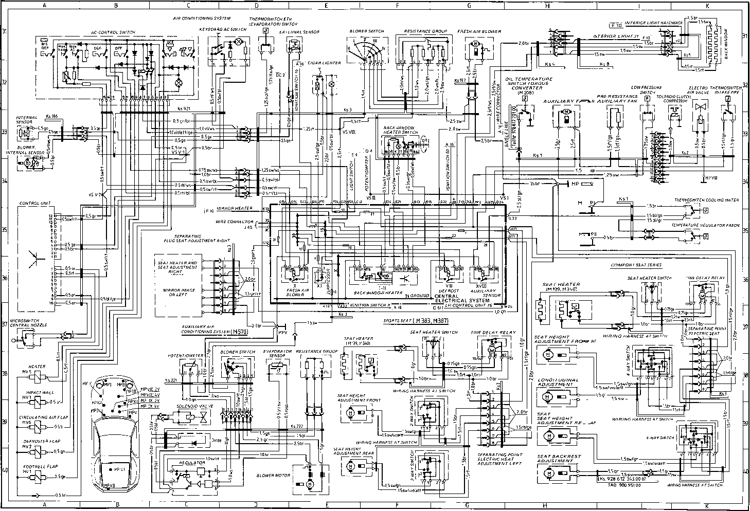 porsche 911 carrera wiring diagram