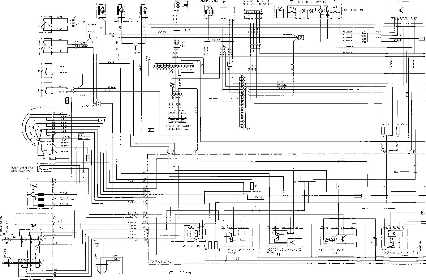 rear windshield wiper motor wiring diagram