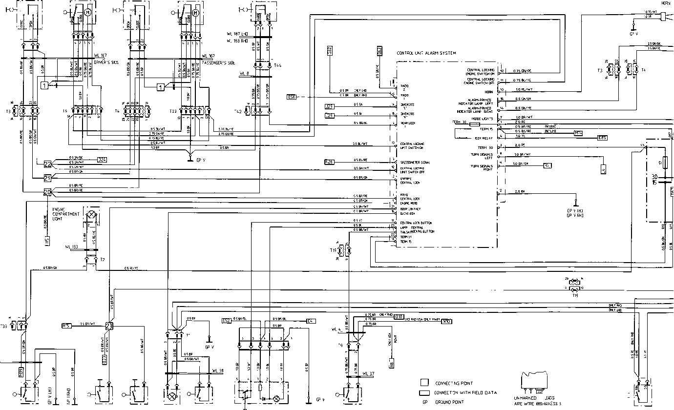 porsche 968 fuse box diagram