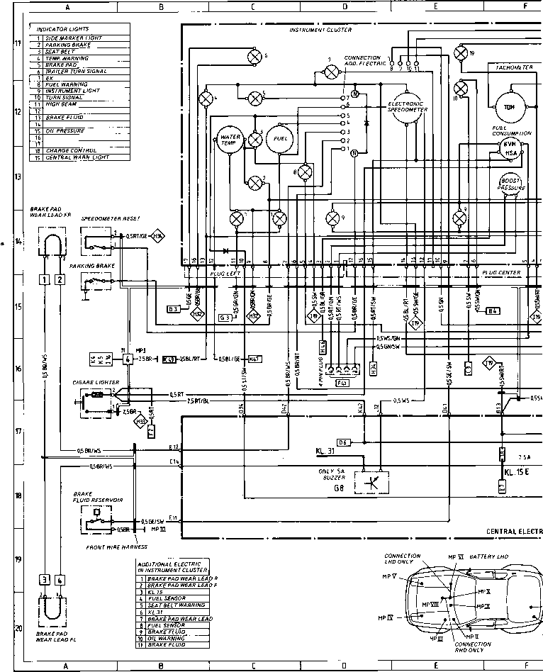 electrical diagram porsche 924