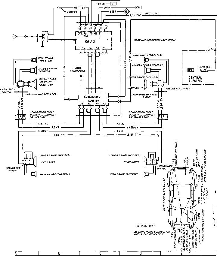 porsche 944 stereo wiring harness
