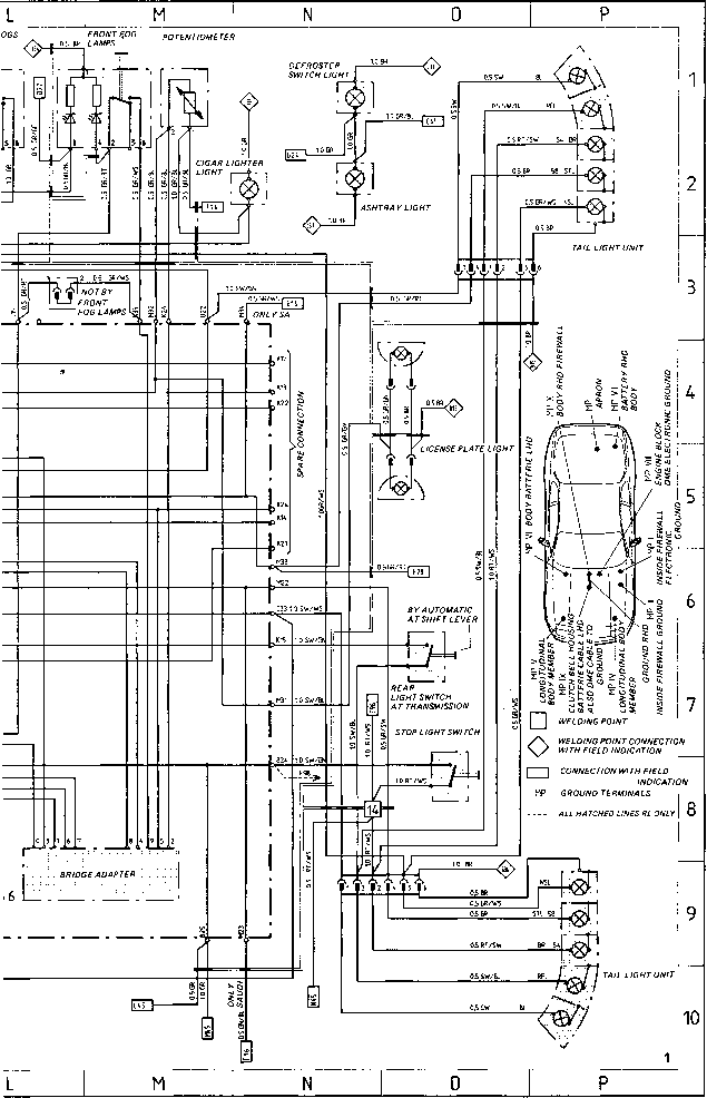 Porsche Electrical Schematic on Pontiac Sunbird Radio Wiring Diagram