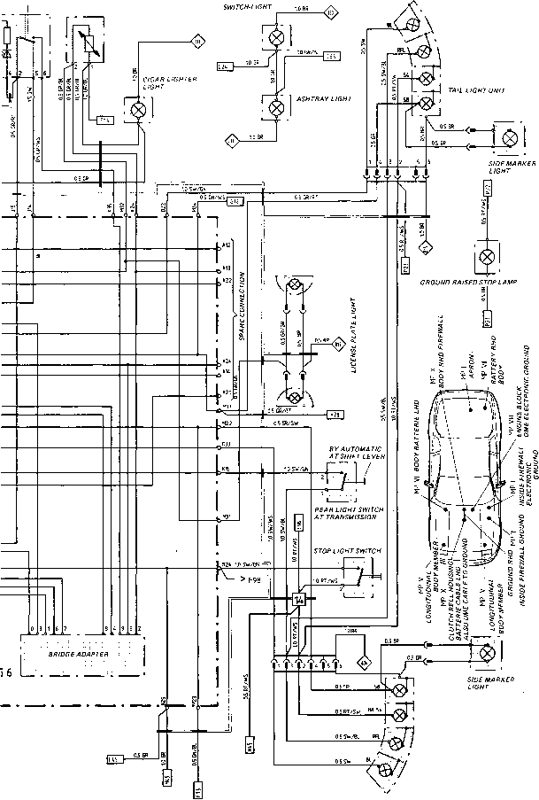 porsche 944 headlight wiring diagram