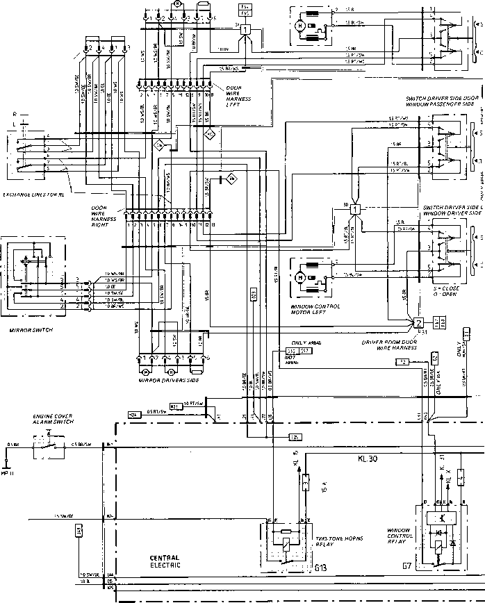 porsche 928 mirror wiring diagram