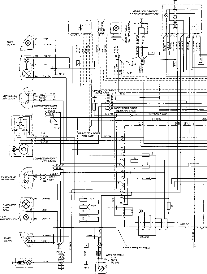 here s the wiring diagram for the headlights