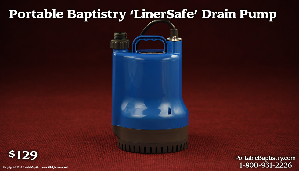 The Portable Baptistry Drain Pump 12900