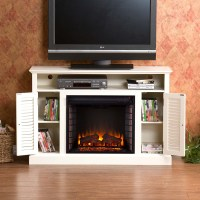 Antique White Electric Fireplace   PortableFireplace ...