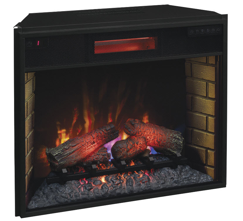 28quot Spectrafire Infrared Quartz Electric Fireplace Insert