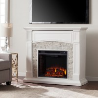 "45.75"" Seneca Electric Media Fireplace - White w/ White ..."