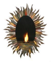 """29.5"""" Spiral Sunburst Wall Mount Gel Fuel Sconce ..."""
