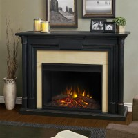 "58"" Maxwell Grand Black Wash Electric Fireplace"