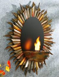 """29.5"""" Spiral Sunburst Wall Mount Gel Fuel Sconce"""