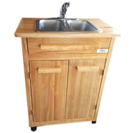 Double Compartment Self Contained Portable Sink Double Sink