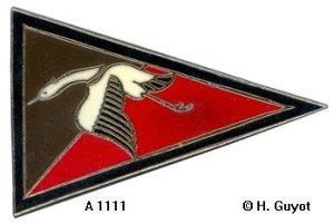 Insigne de la SPA 67 à partir de juin 1917, homologué sous le n° A 1111. © H. Guyot