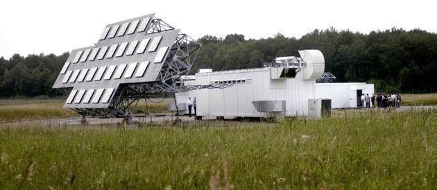 L'un des éléments du radar GRAVES, capable de détécter des objets en orbite basse