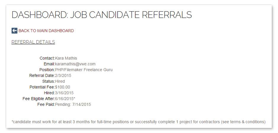 Job Referral Program - VisionWorks Engineering