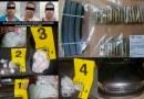 FGE detiene a tres en flagrancia con posesión de narcótico y cartuchos útiles