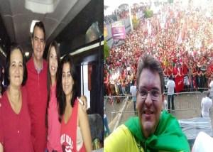 Prefeitos do Curimataú e Seridó paraibano prestigia visita de Lula e Dilma à Paraíba