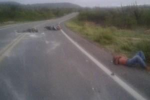 Acidente com moto deixa dois feridos na BR 104 em Barra de Santa Rosa-PB nesta sexta (21)