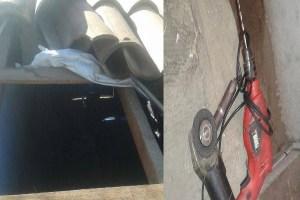 Em Nova Floresta-PB bandido que invade oficina pelo telhado é surpreendido pelo proprietário