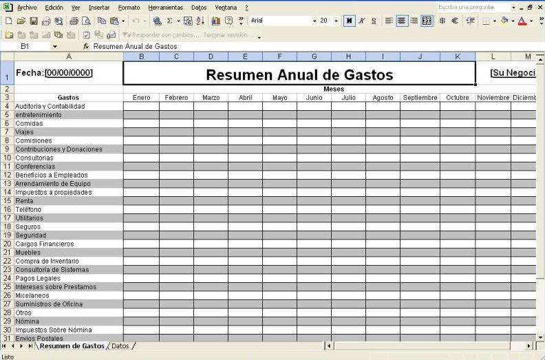 Excel Presupuesto Familiar - Descargar Gratis
