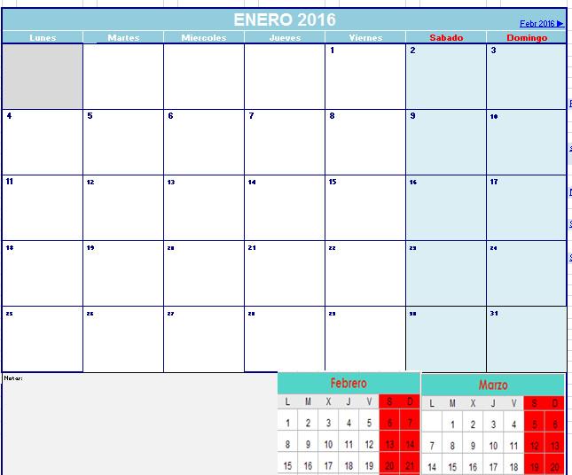 calendario 2016 - Opiniones, precios y demo