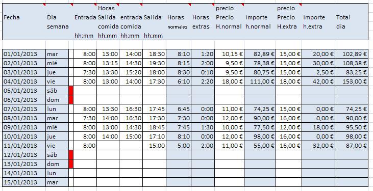 formato de horas extras trabajadas - Boatjeremyeaton