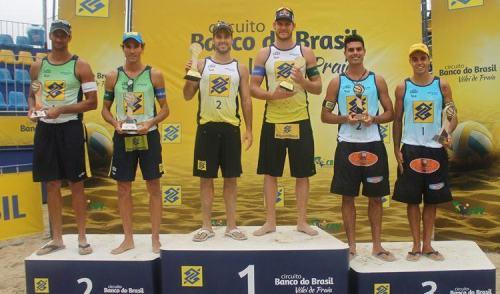 Alison e Bruno Schmdit faturam a etapa de Niterói do Open do Circuito Vôlei de Praia