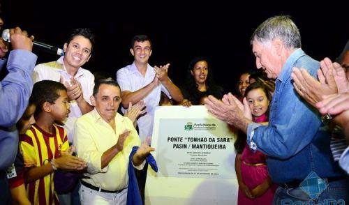 VÍDEO: prefeitura de Pinda inaugura nova ponte entre Pasin e Mantiqueira