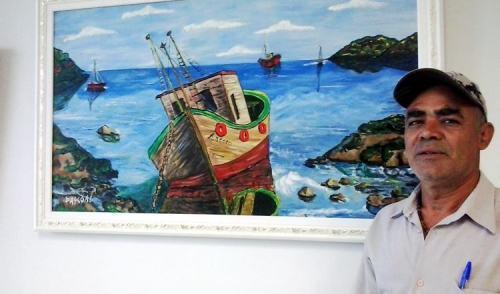 Saguão da Prefeitura de Pinda recebe exposição do artista Pascoal Silva