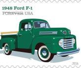 Picape Ford Série F é homenageada em edição de selos postais nos EUA