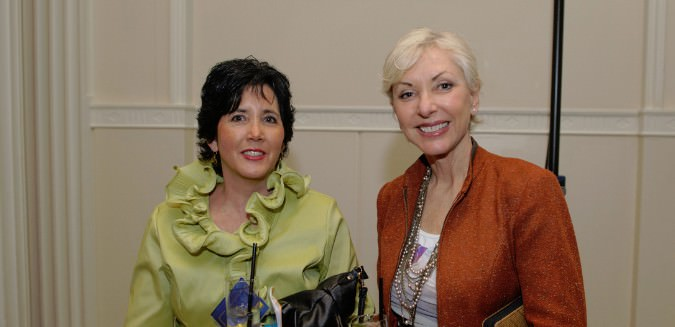 Event co-chair Anne Naito-Campbell and Nancy Hales