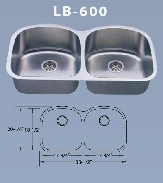 Lb 600 Bs Esi Stainless Double Bowl Stainless Undermount