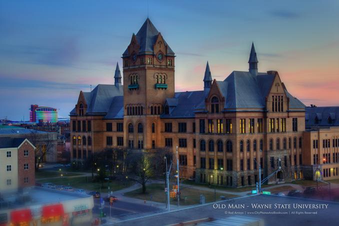 Old Main - Wayne State - By Rod Arroyo