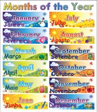 Calendar English Expressions Change The Language Of The Calendar Names Of The Days And Months In Portuguese Portuguese Vocabulary