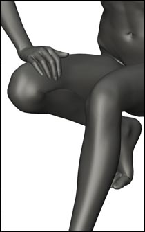 Female Crouching Figure Reference Pose - Set 03