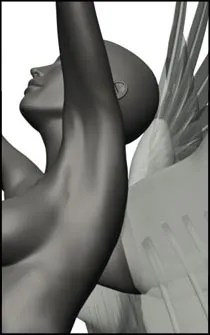 Female Angel Pose Reference for Figure Drawing  - Set 01