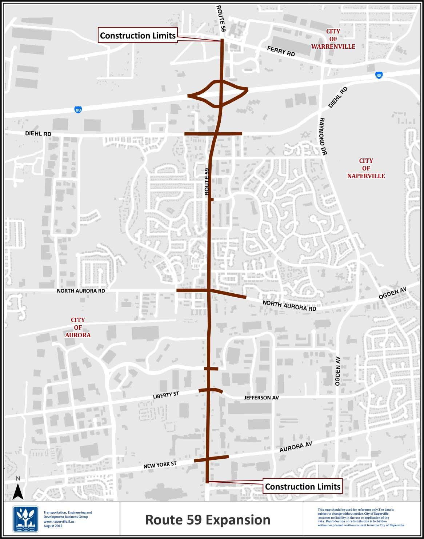 Rt. 59 construction to increase Mon., April 29
