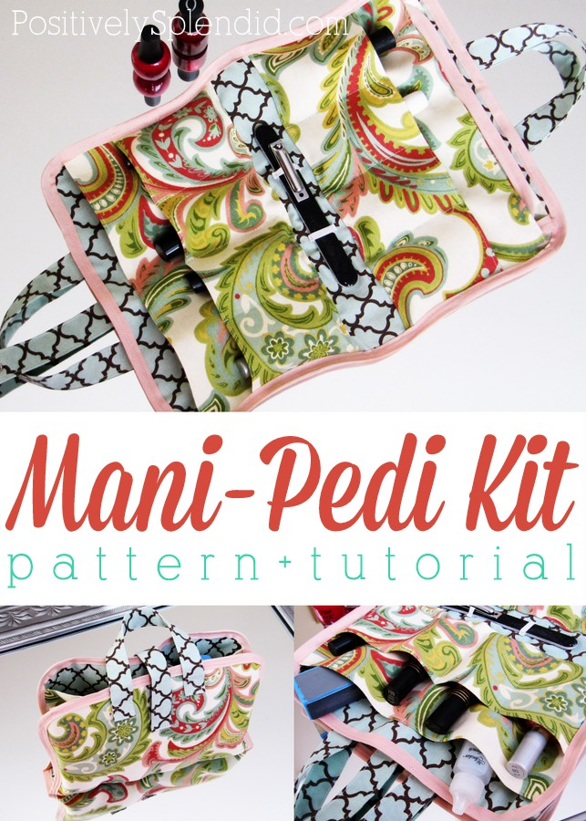 Portable manicure-pedicure kit sewing tutorial. These would make such fun, unique gifts!