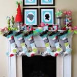 Whimsical Christmas Mantel Decor